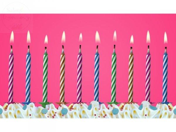 Świeczki urodzinowe MAGICZNE mix kolor 10 szt