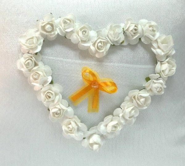 Butonierki, kotyliony pomarańczowe z perełką 1szt