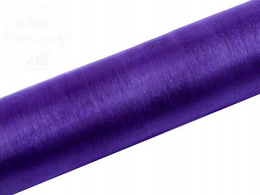 Organza gładka 0,16x9m fiolet ORP16-014