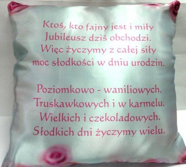 Poduszka Najsłodsze zyczenia urodzinowe