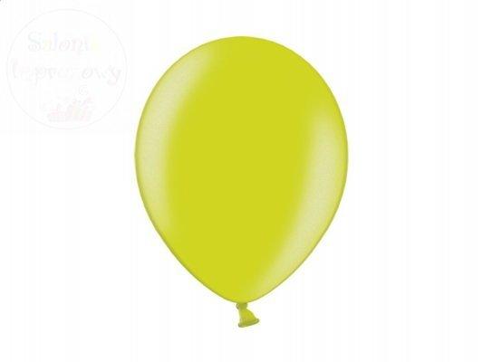 Balony 12 cali jasno zielone metalik - 100szt