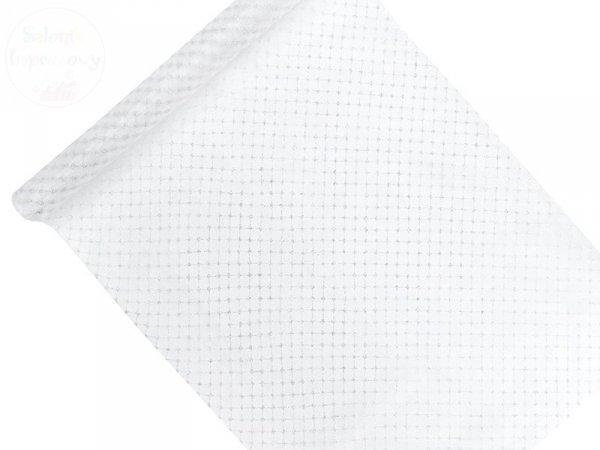 Organza 0,48x9m biała z nadrukiem