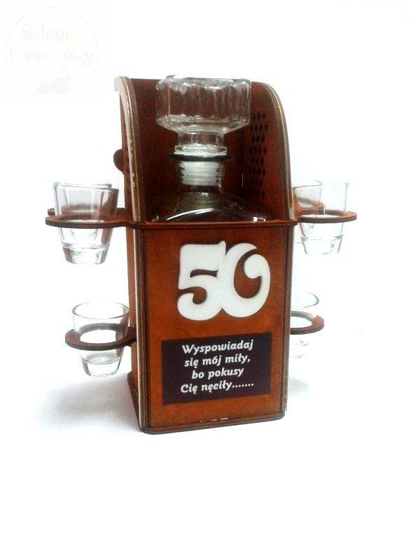 Karafka Konfesjonał na 50 urodziny + 6 kieliszków