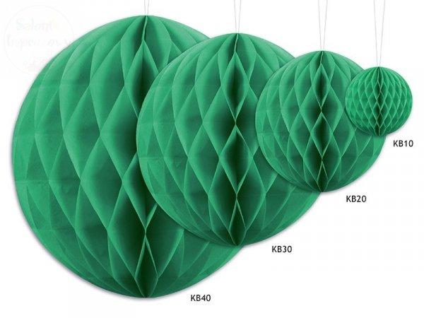 Kula bibułowa  szmaragodowozielony 10 cm