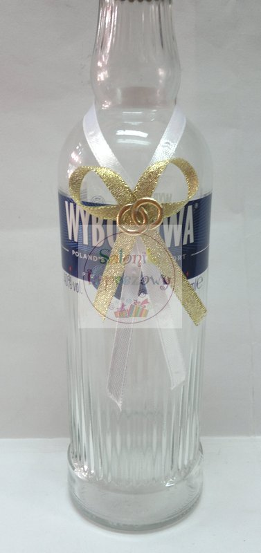 Zawieszki na alkohol biało złote 10szt