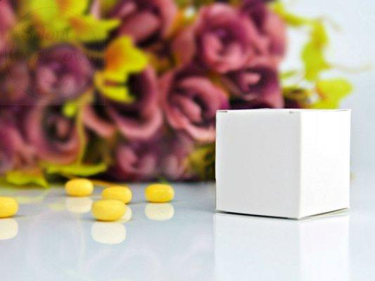 Pudełeczka dla gości białe kwadratowe 10 szt PUDp8