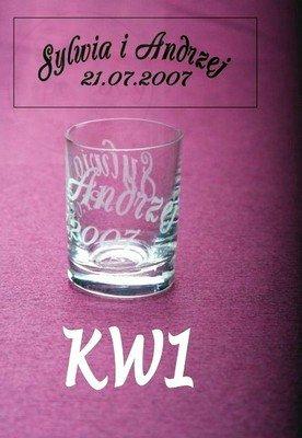 Kieliszek do wódki z grawerem imion KW1