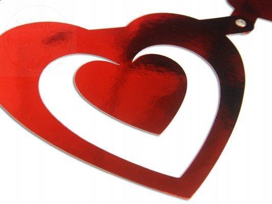 Baner walentynkowy czerwony gługość 1,6m. 1szt