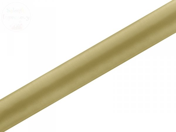Satyna gładka, złota 0,36x9m