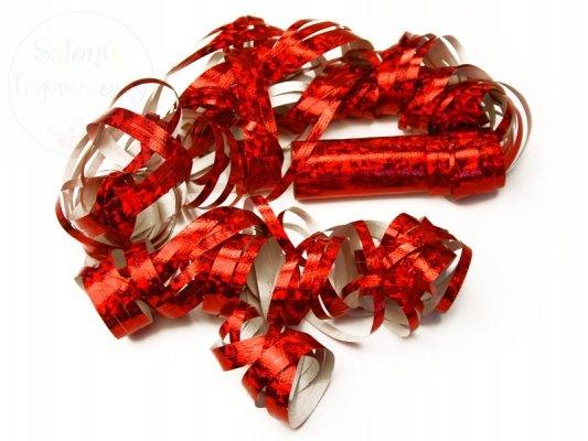 Serpentyna holograficzna czerwona 18 rolek