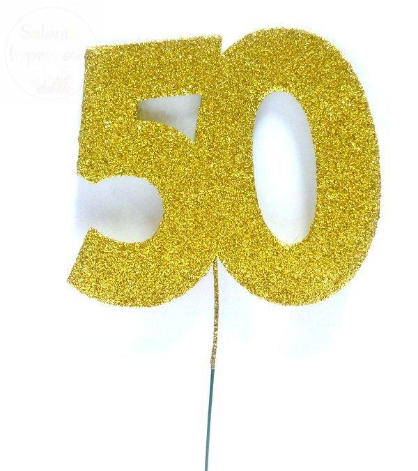 Ozdoba na druciku 50 złota - 1szt duża 9,5cm