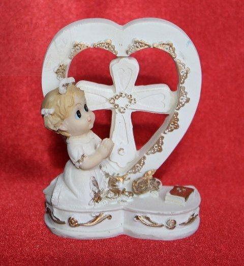 Figurka komunijna dziewczynka 9 cm KFF2D