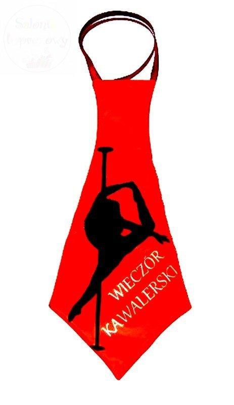 Krawat Mega Wieczór Kawalerski - czerwony