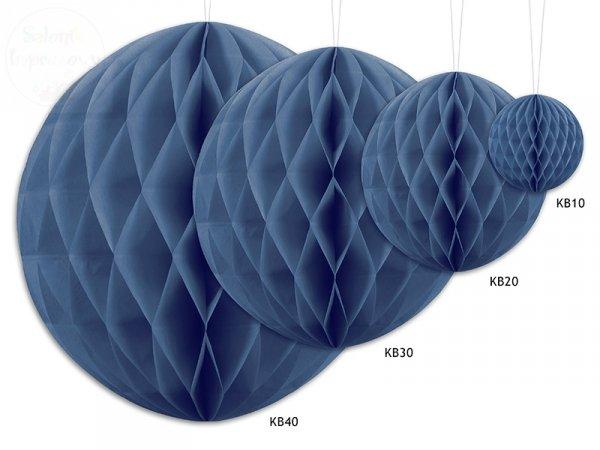 Kula bibułowa  granatowa 10 cm