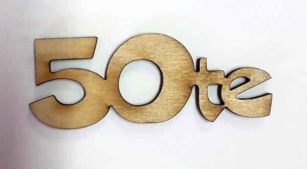 Napis drewniany 50te