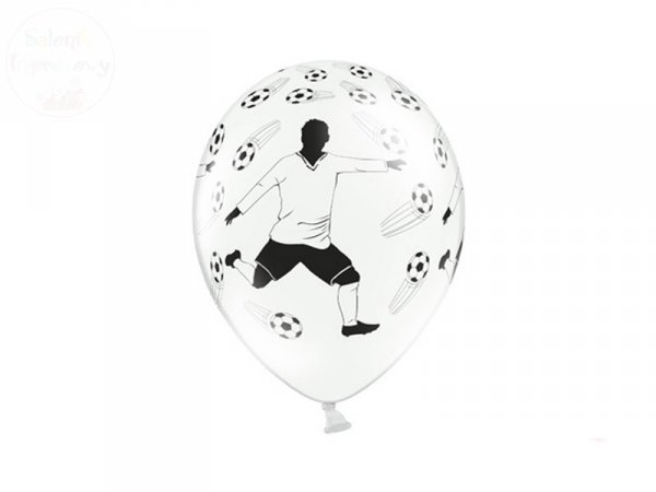 Balony Piłkarz i piłki 1szt 30 cm