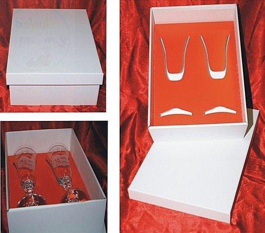 Kieliszki do szampana z grawerem prezent na roczni