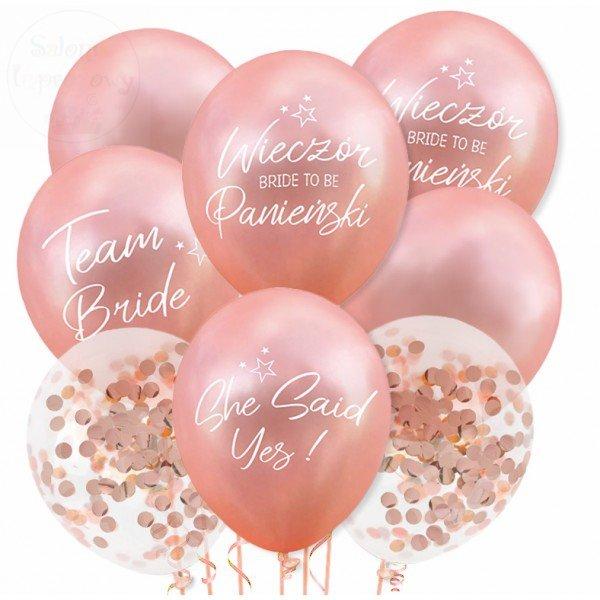 Balony Wieczór Panieński Rose Gold 1 szt