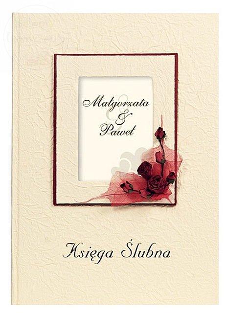 Księga gości weselnych z miejscem na inicjały KWP5