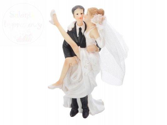Figurka, para na tort Młoda na rękach PF23