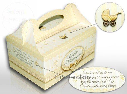 Pudełko na ciasto na chrzest, roczek 1szt PUDCH