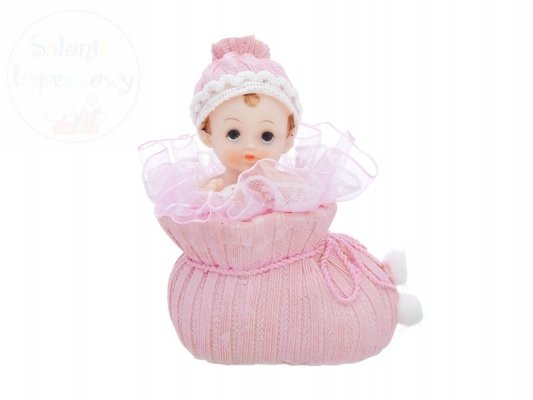 Figurka na tort dziewczynka w różowym bucie DF1D