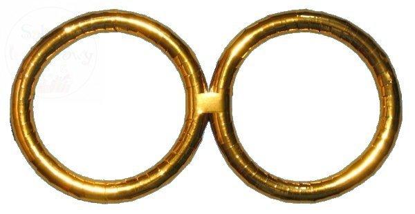 Obrączki złote duże 50cm komplet OBD