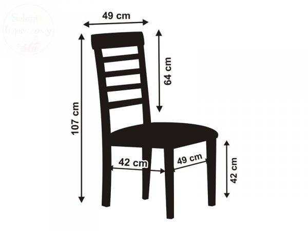 Pokrowiec z grubej satyny na krzesło biały