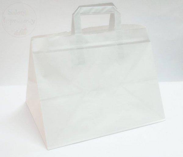 Torba biała papierowa 32x22x24 na ciasto