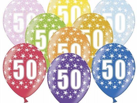 """Balony 14 cali metalik mix kolor """"50"""""""