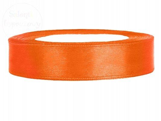 Tasiemka satynowa pomarańczowa 12mm TS12-005