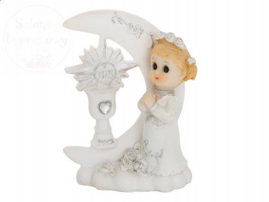 Figurka komunijna na  tort dziewczynka 9cm