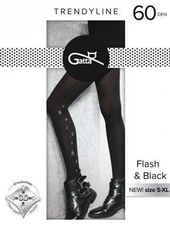 Rajstopy Gatta Flash & Black wz.02 60 den 5XL