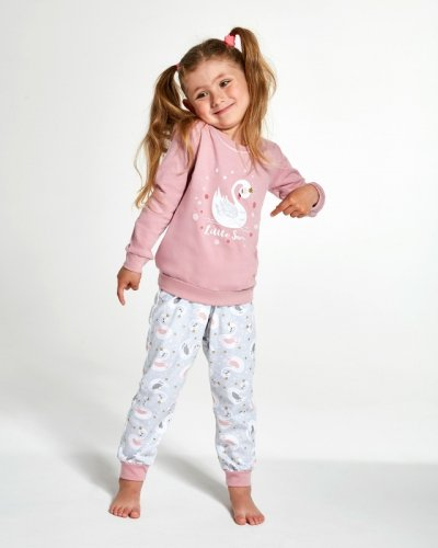 Piżama Cornette Kids Girl 387/123 Little Swan dł/r 86-128