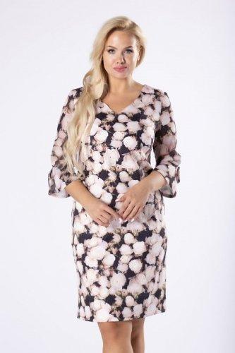 dopasowana sukienka w florystyczny print