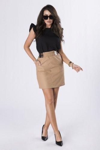 spódnica mini z imitacji skóry