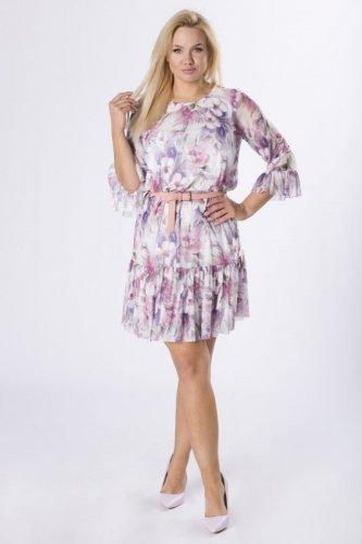 sukienka z siatki z printem