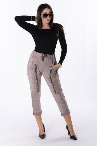 spodnie z ozdobnymi suwakami