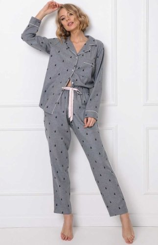 Rozpinana piżama damska Aruelle Elaine Long