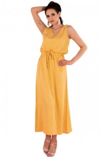 Sukienka na ramiączkach midi Anara musztardowa