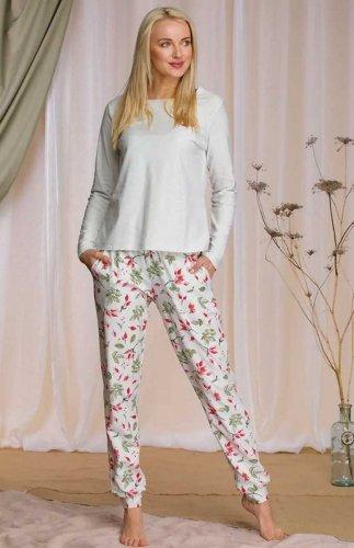 Piżama damska Jesienna Róża Key LNS 207