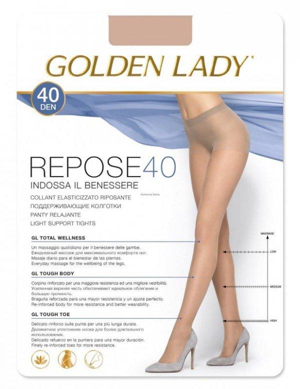 Rajstopy Golden Lady Repose 2-5XL 40 den