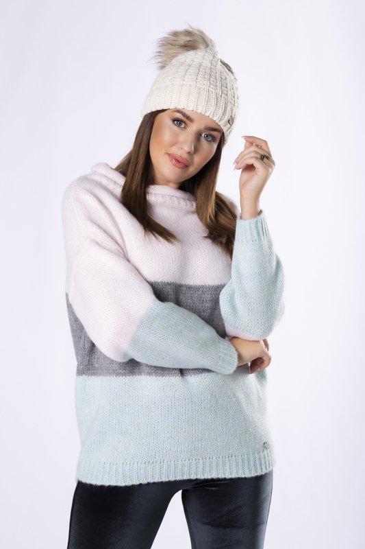 sweter w pasy