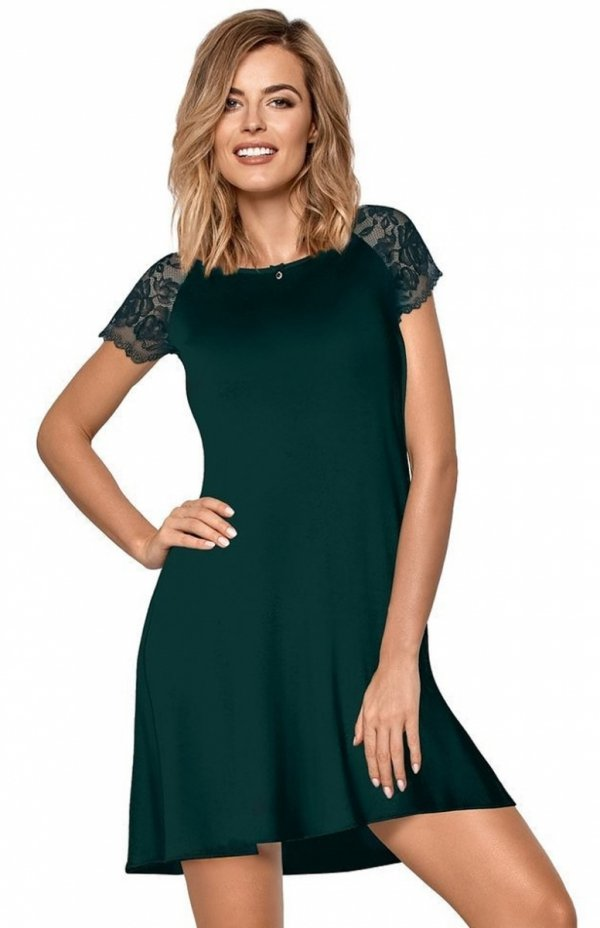 koszula nocna nipplex sabrina zielona
