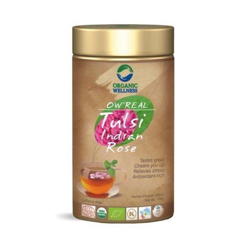 Herbata organiczna Tulsi Indian Rose w puszce 100g