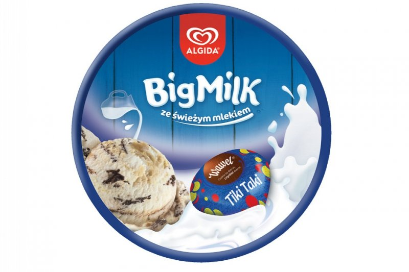 [ALGIDA] BIG MILK KUBEŁEK TIKI TAK 450ML/8