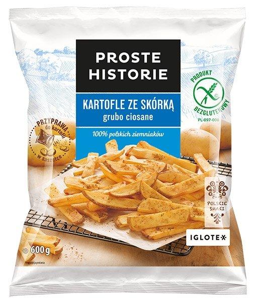 [IGLOTEX] Kartofle ze skora grubo ciosane 600g/16
