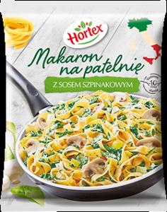 1162 Hortex MNP Makaron na patelnie z sosem szpinakowym 450 g 1x8
