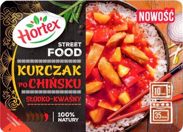 1241 Hortex Street Food kurczak po chińsku slodko-kwasny 350g 1x6
