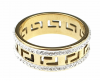 ring 22,00mm gold stainless steel